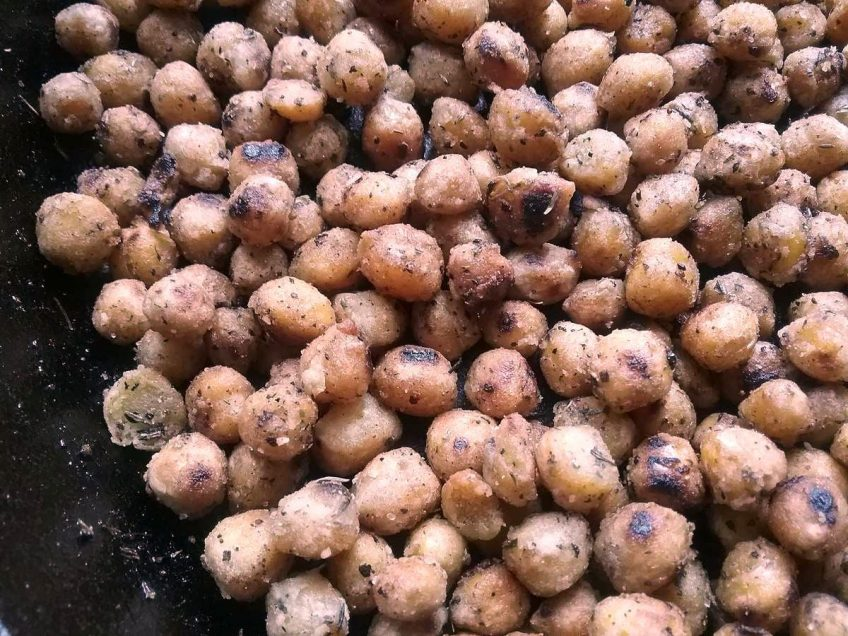 Crispy Herbed Chick Peas