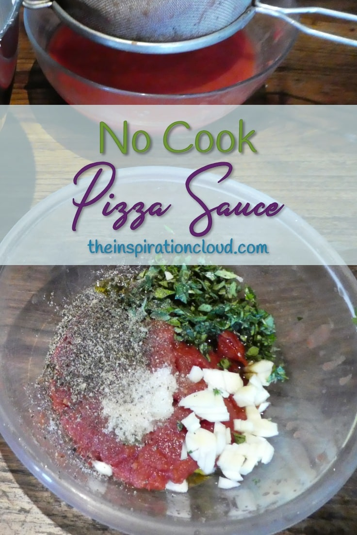 No Cook Pizza Sauce - Fast, easy and delicious